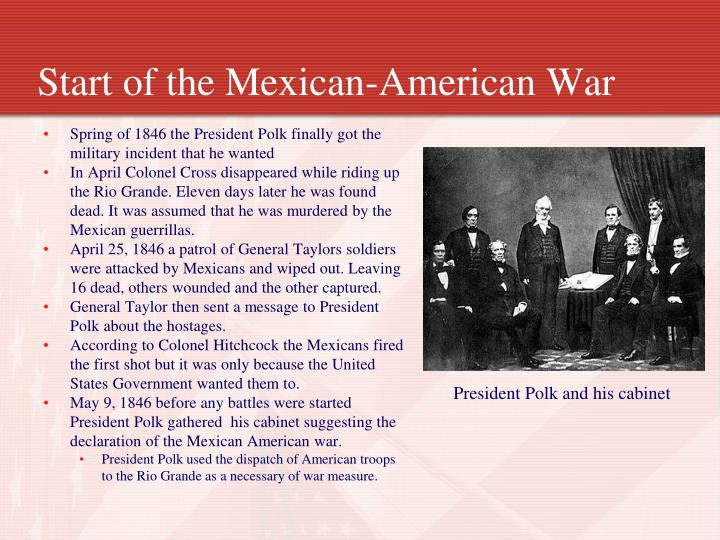 Start of the Mexican-American War
