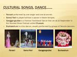 cultural songs dance