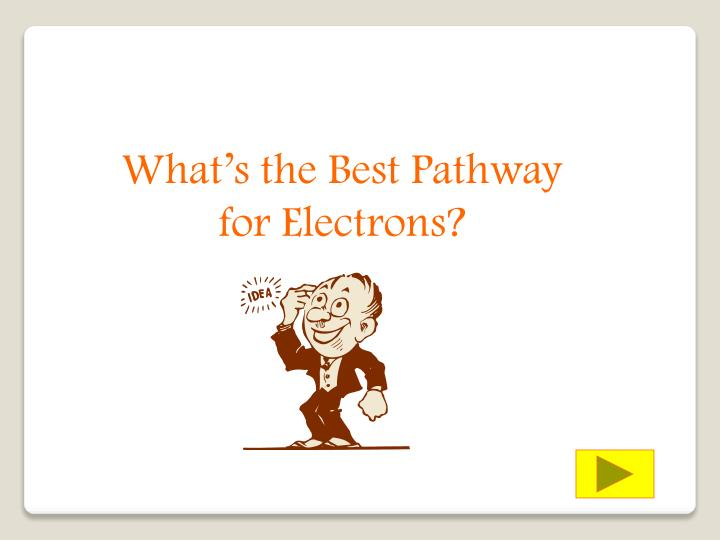What's the Best Pathway for Electrons?