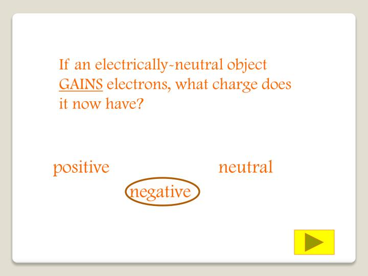 If an electrically-neutral object