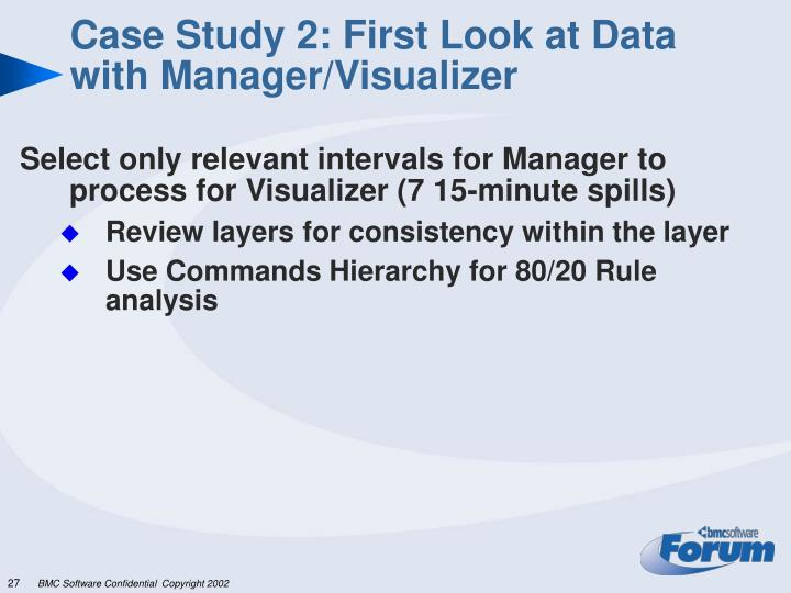 Case Study 2: First Look at Data with Manager/Visualizer