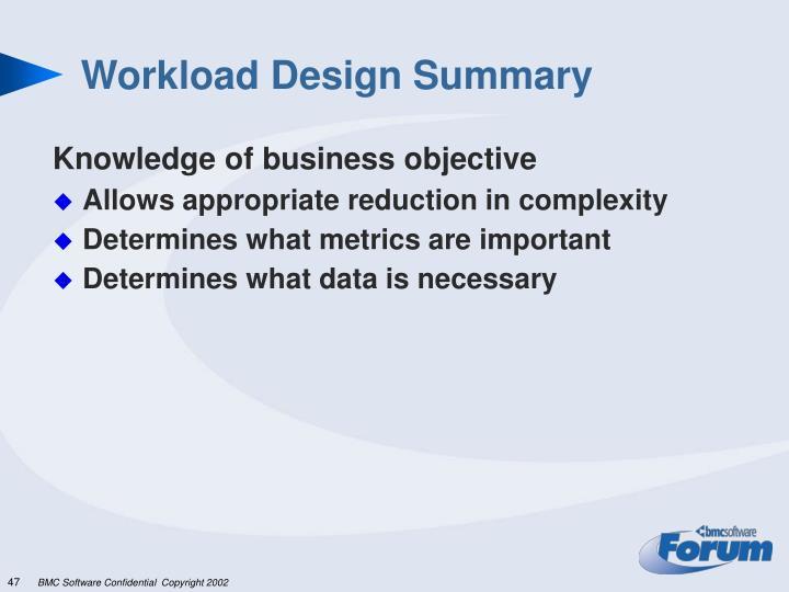 Workload Design Summary
