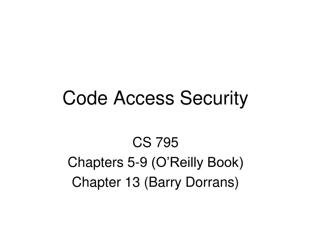 PPT - Code Access Security PowerPoint Presentation - ID:5509419