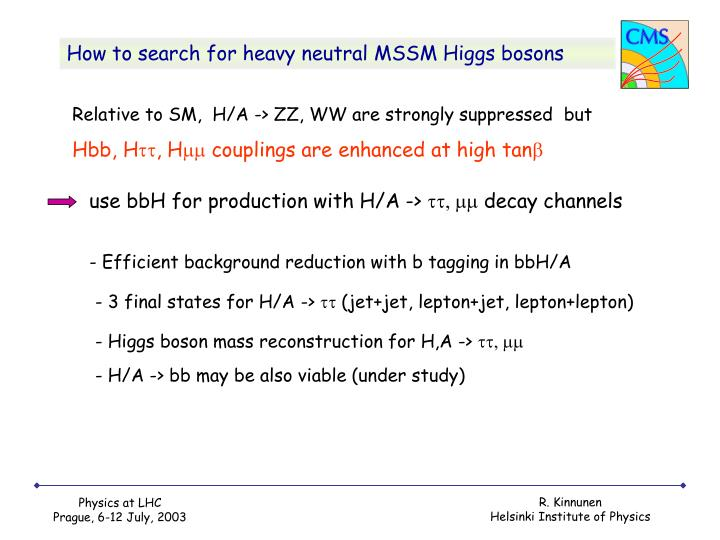 How to search for heavy neutral MSSM Higgs bosons