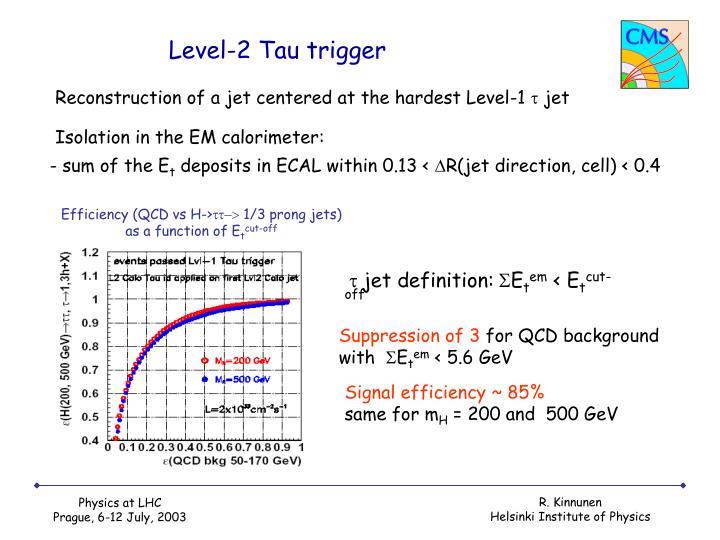 Level-2 Tau trigger