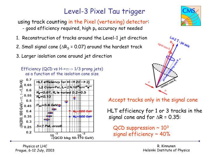 Level-3 Pixel Tau trigger