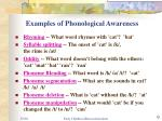 examples of phonological awareness