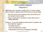 intervention support intensive