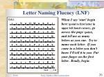 letter naming fluency lnf
