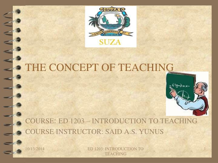the concept of teaching n.