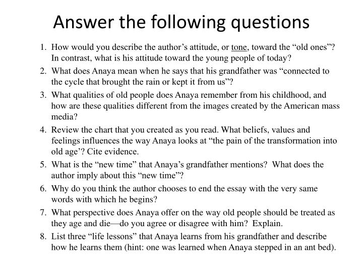 answer the following questions n.