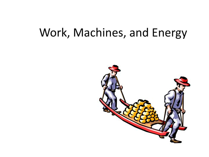 work machines and energy n.