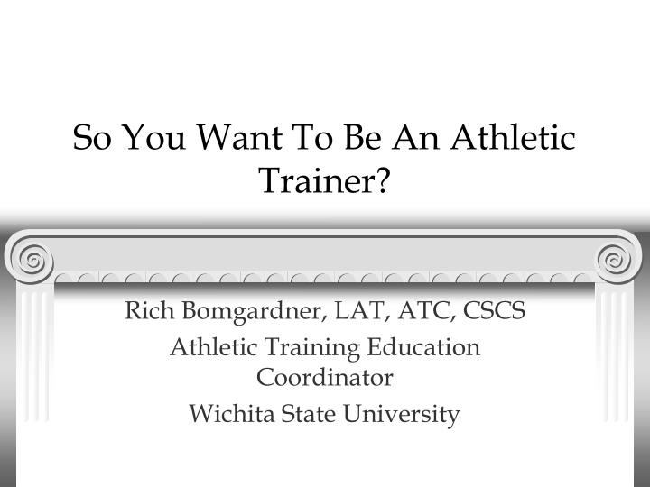 a description of a definition of an athletic trainer An athletic trainer is a certified and licensed health care professional who practices in the field of sports medicine athletic training has been recognized by the american medical association (ama) as an allied health care profession since 1990.