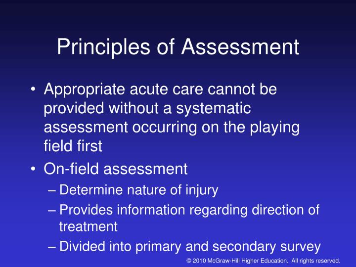 principles assessment