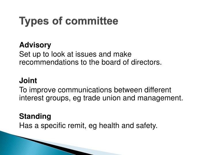 Types of committee