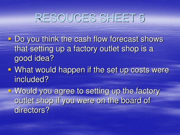 RESOUCES SHEET 5