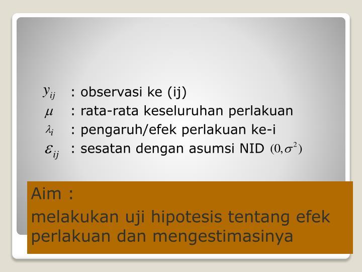 : observasi ke (ij)