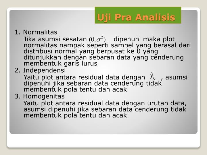Uji Pra Analisis
