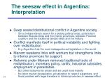the seesaw effect in argentina interpretation
