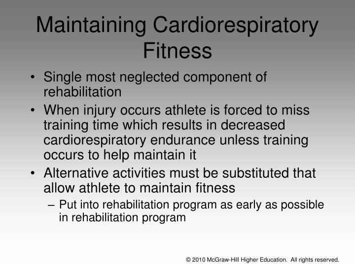 Maintaining Cardiorespiratory Fitness
