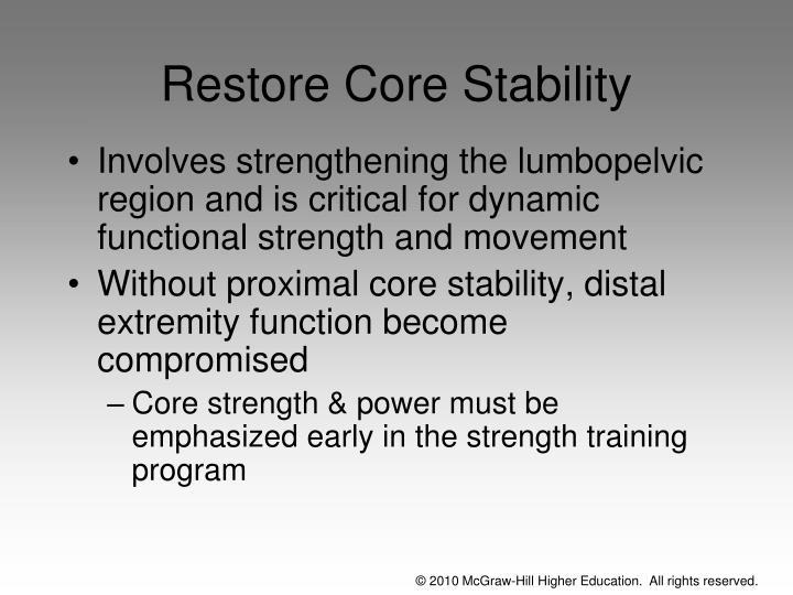 Restore Core Stability