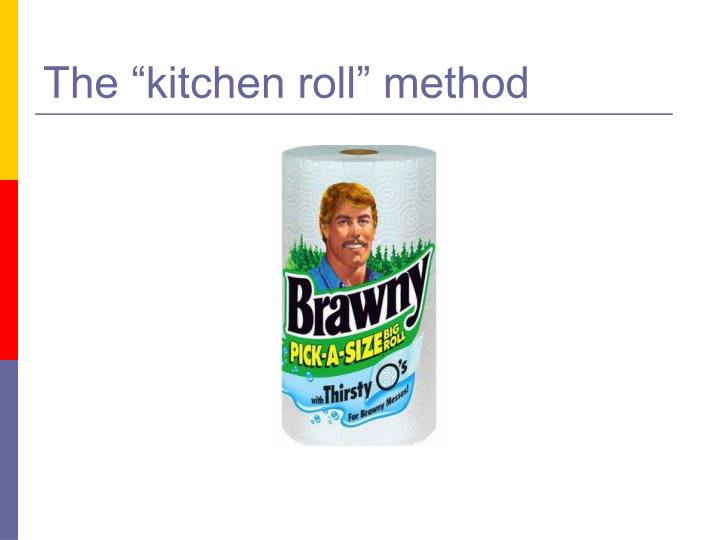 "The ""kitchen roll"" method"