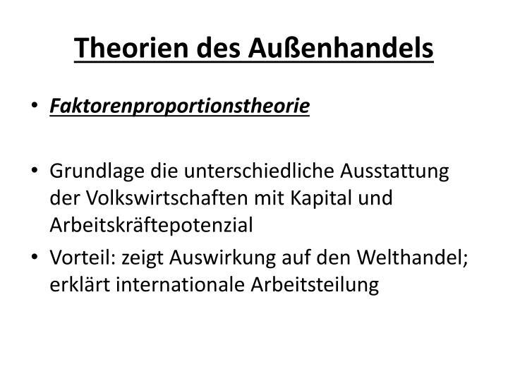 Theorien des Außenhandels
