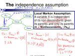the independence assumption