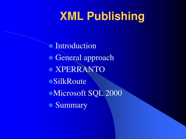 xml publishing n.