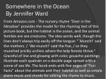 somewhere in the ocean by jennifer ward