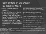 somewhere in the ocean by jennifer ward1
