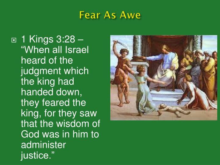 Fear As Awe