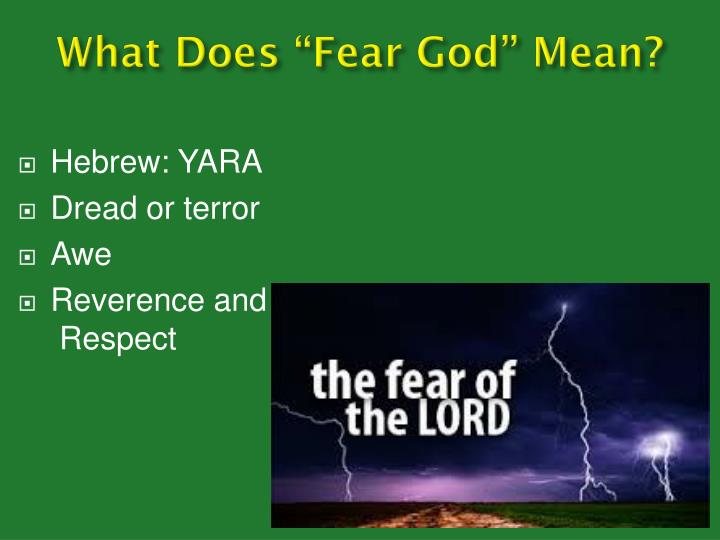 What does fear god mean