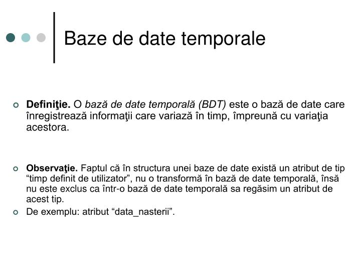 Baze de date temporale
