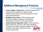 additional management products
