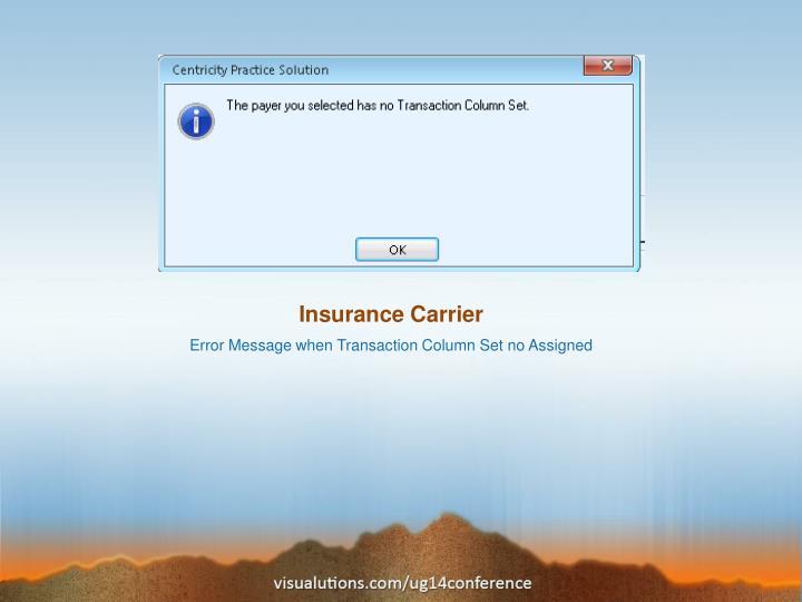 Insurance Carrier