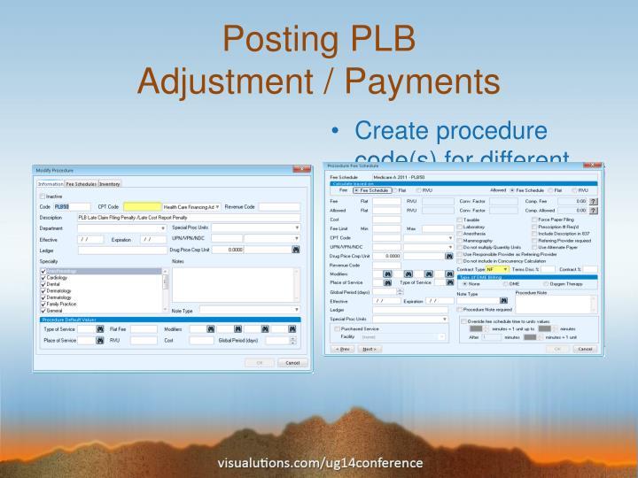 Posting PLB