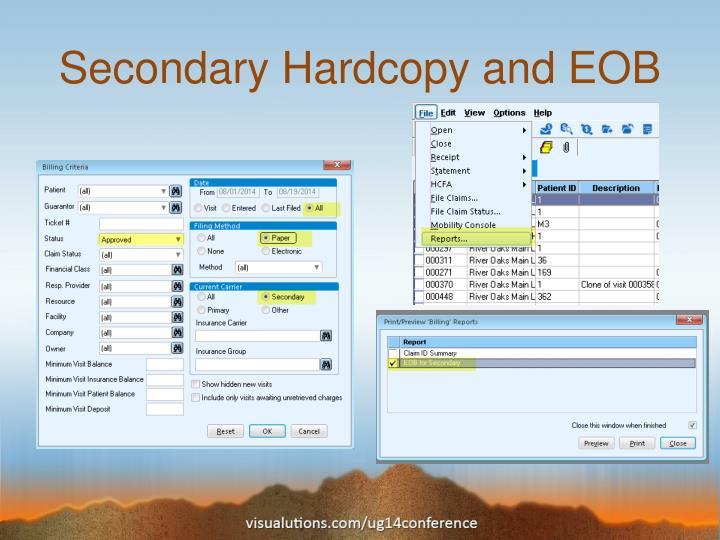 Secondary Hardcopy