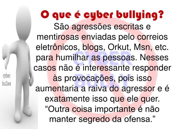 O que é cyber