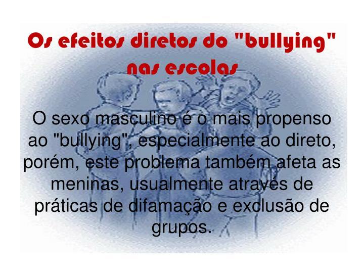 """Os efeitos diretos do """"bullying"""" nas escolas"""