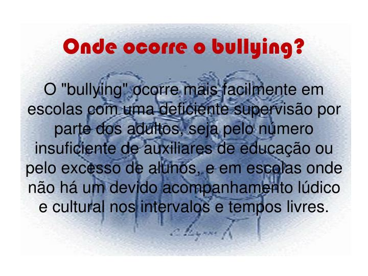 Onde ocorre o bullying?