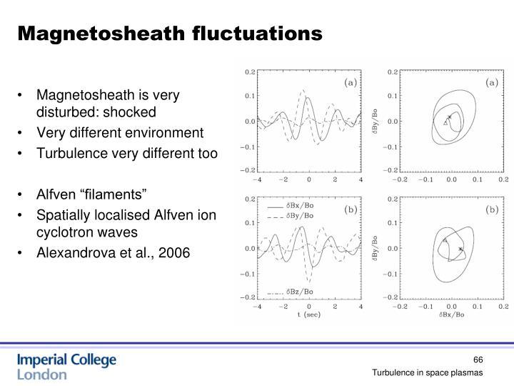 Magnetosheath fluctuations