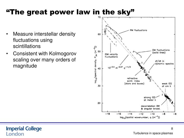 """""""The great power law in the sky"""""""