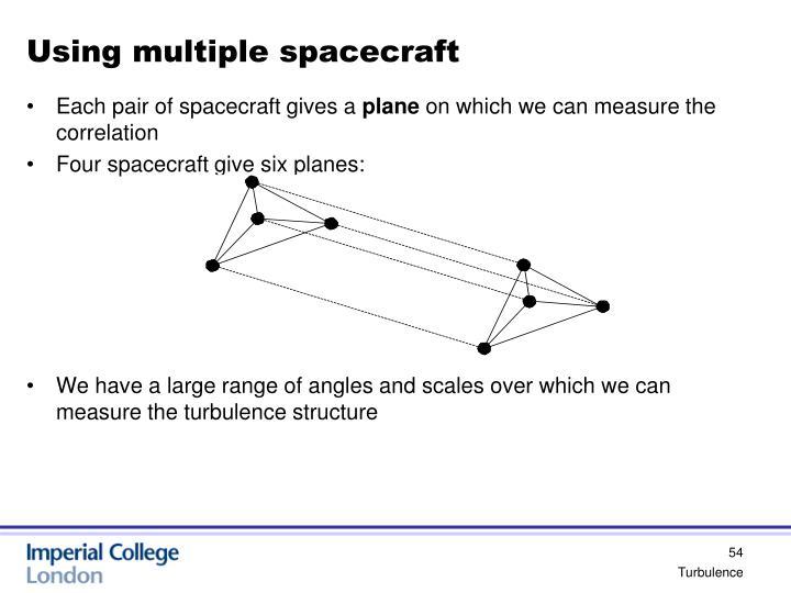 Using multiple spacecraft