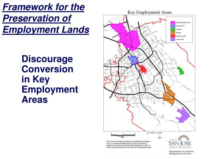 Framework for the Preservation of Employment Lands