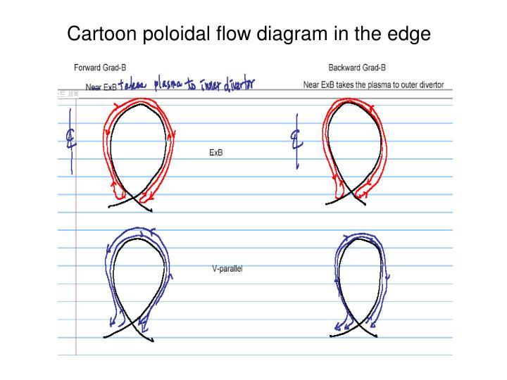 Cartoon poloidal flow diagram in the edge