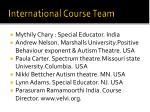 international course team