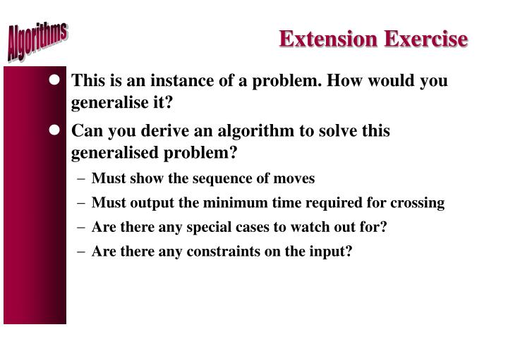 Extension Exercise
