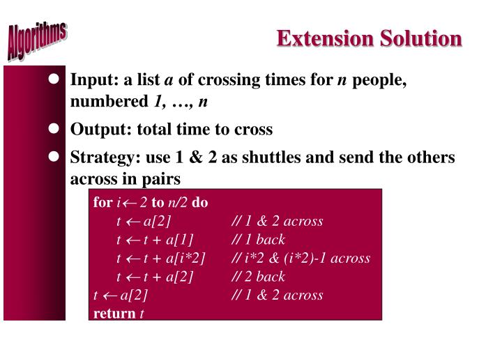 Extension Solution