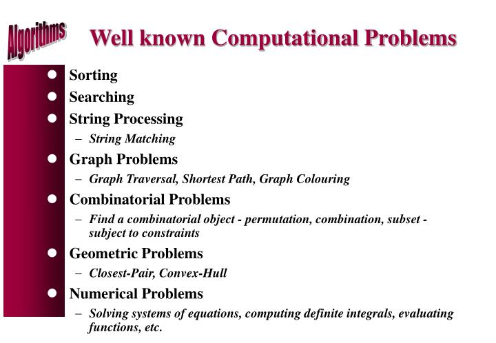 Well known Computational Problems